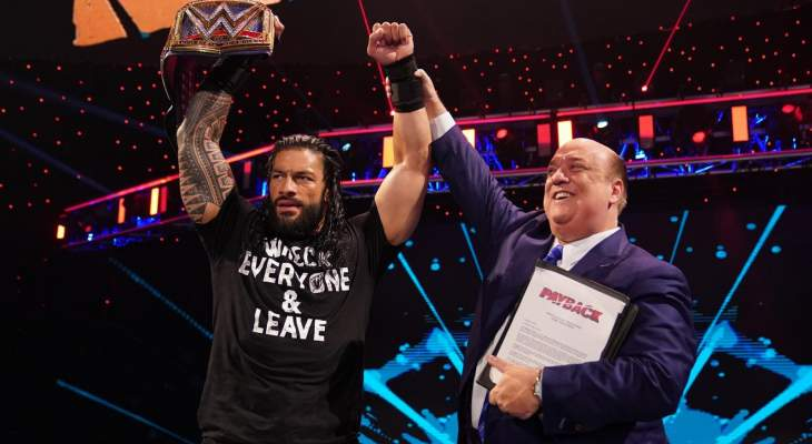 WWE Payback: رومان راينز يصبح البطل الدولي، وباقي النتائج