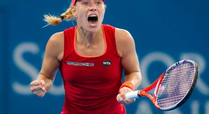 كرة مضرب : أنجليك كيربر تتقدم الى الدور الثاني بسهولة