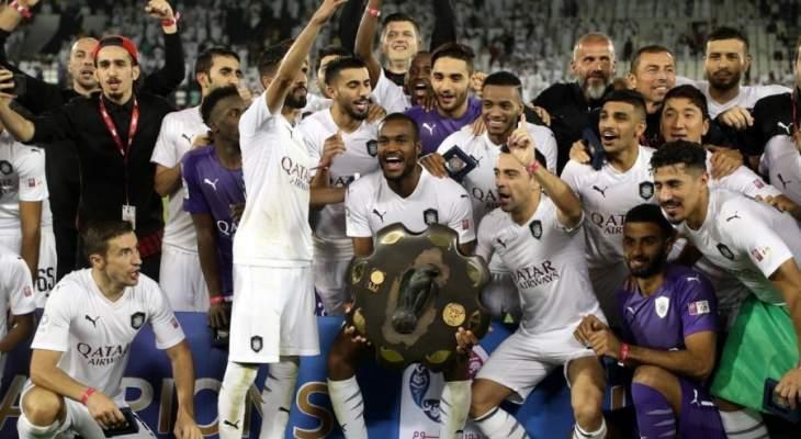 فيديو: تشافي يحتفل مع زملائه بالكأس القطرية