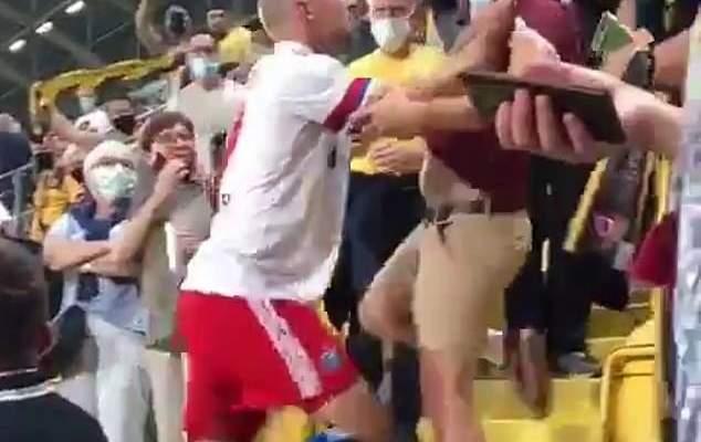 مدافع هامبورغ يعتدي على مشجع دريسدين بعد خسارة فريقه
