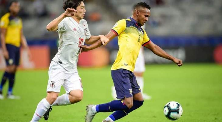 علامات لاعبي منتخبي الاكوادور واليابان