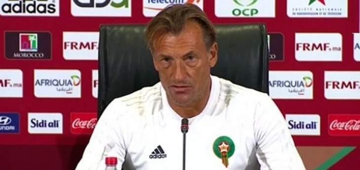 مدرب المغرب ينتقد اداء لاعبيه رغم الفوز على جنوب افريقيا