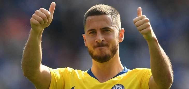 مورينيو: نهائي الدوري الأوروبي هو المباراة الأخيرة لـ هازارد مع تشيلسي