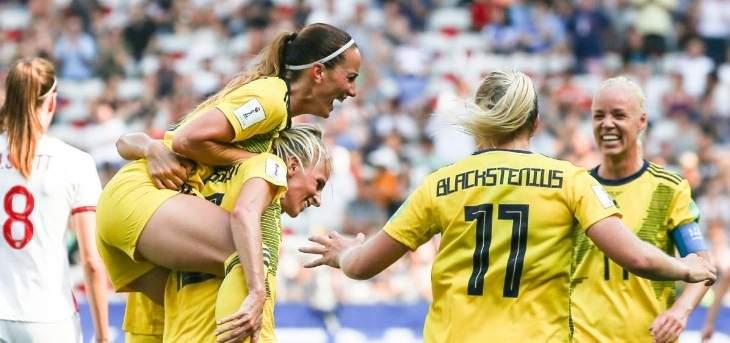 السويد تخطف المركز الثالث من انكلترا في مونديال السيدات