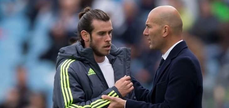 زيدان: بإمكان ريال مدريد أن يعوّل على بايل