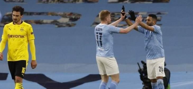 دوري الابطال: السيتي يخطف الفوز امام دورتموند في الثواني الاخيرة والحسم في المانيا