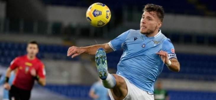 الدوري الإيطالي: لاتسيو يواصل انتصاراته بفوز صعب على ساسولو