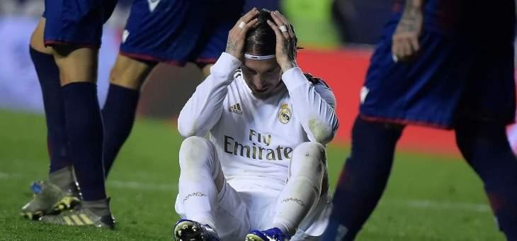راموس غاضب من حكم مباراة ريال مدريد وليفانتي