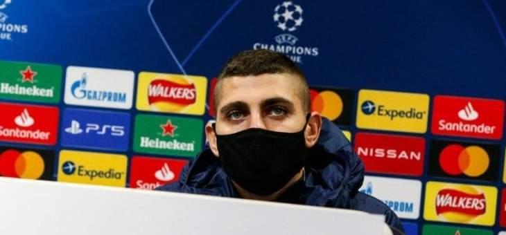 فيراتي: علينا أن نلعب بشخصيتنا امام مانشستر يونايتد