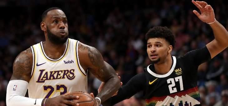 NBA: الليكرز يعود الى سكة الانتصارات من بوابة دنفر