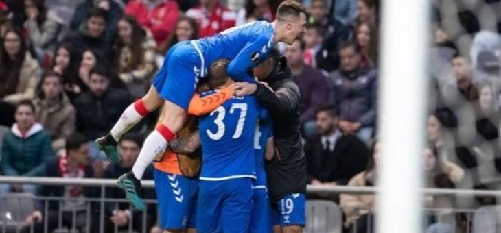 الدوري الاوروبي: غلاسكو رينجرز يعبر الى دور الـ 16 بفوزه على سبورتينغ براغا