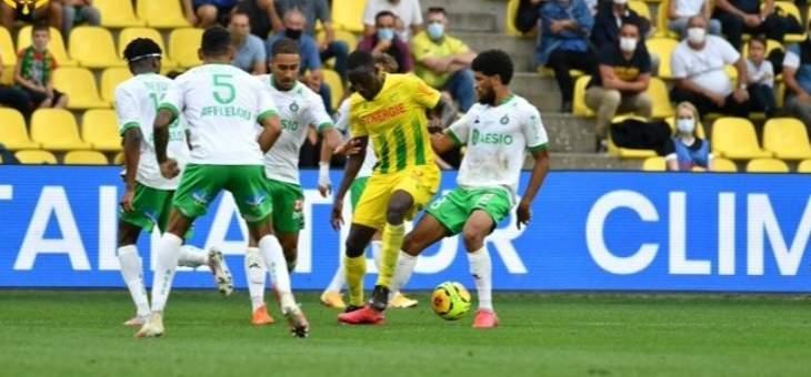 الدوري الفرنسي: نانت يخطف تعادلاً مهماً امام سانت ايتيان