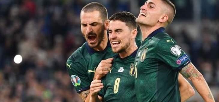 ايطاليا تعبر الى يورو 2020 بفوزها على اليونان، والنرويج تؤجل تأهل الماتادور