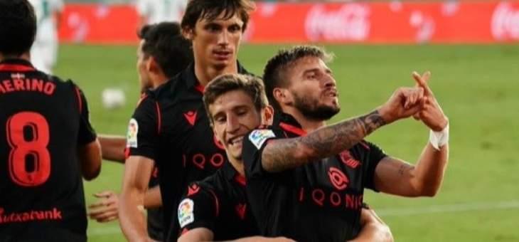 الليغا: ريال سوسييداد يكتسح التشي بثلاثية