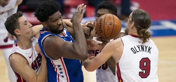 NBA: فيلادلفيا يتخطي ميامي بعد وقت اضافي واحد