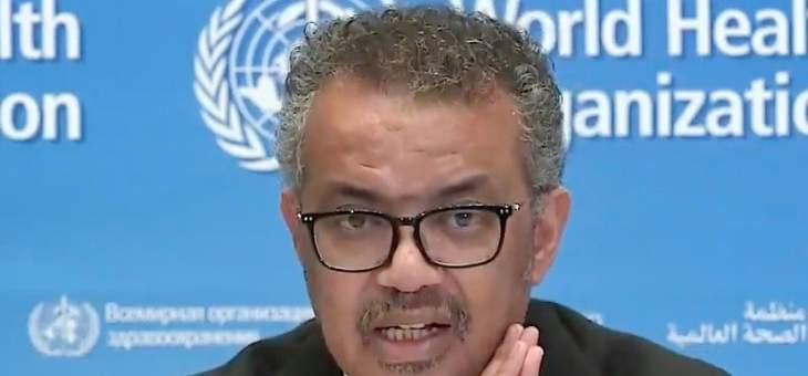 """مدير عام منظمة الصحة العالمية يحيي """"تضحية"""" منظمي الالعاب الاولمبية"""