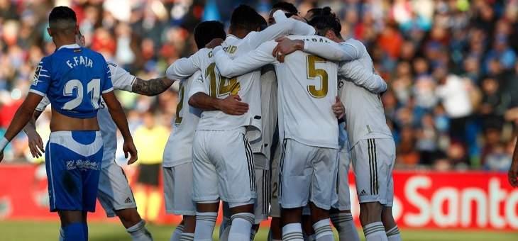 ريال مدريد يعتلي صدارة الليغا بعد حسمه ديربي مدريد امام جاره خيتافي بثلاثية