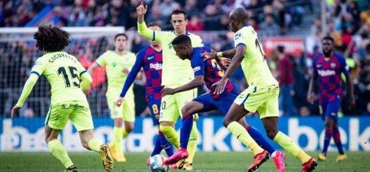 موجز المساء: تعادل مثير لباريس سان جيرمان، برشلونة يتخطى خيتافي، ثلاثية للايبزيغ ومباراة نسائية على لقب سماك داون للسيدات بالسعودية
