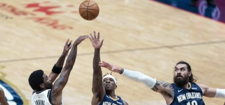 NBA: بروكلين يرفع الضغط على فيلادلفيا بعد الفوز على بيليكانز