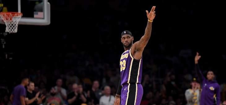 ليبرون جايمس يقود الليكرز لاول فوز في الموسم الجديد من NBA