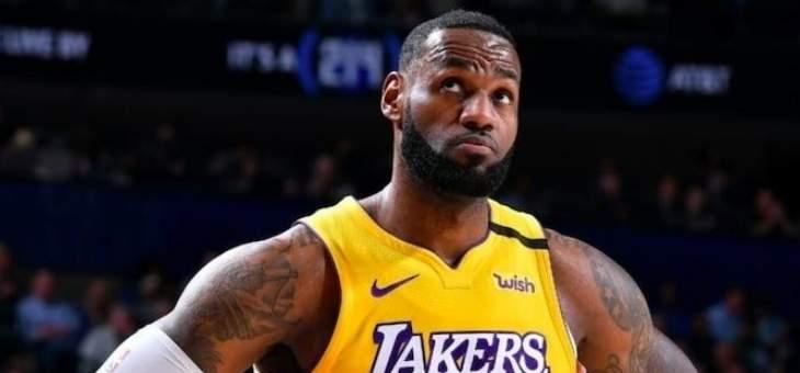 ليبرون جايمس يتصدر التصويت النجوم في NBA 2020